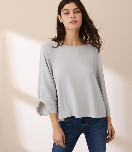 Image of Lou & Grey Signaturesoft Twist Sleeve Top