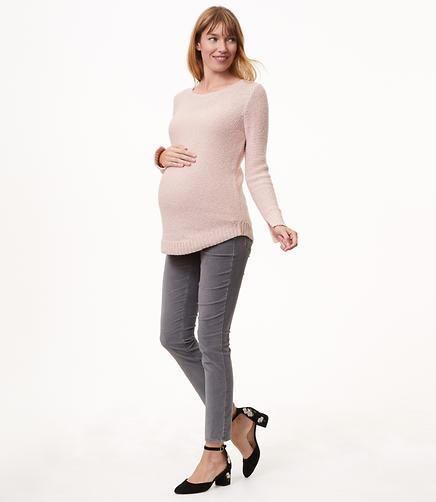 Maternity Skinny Velvet Pants