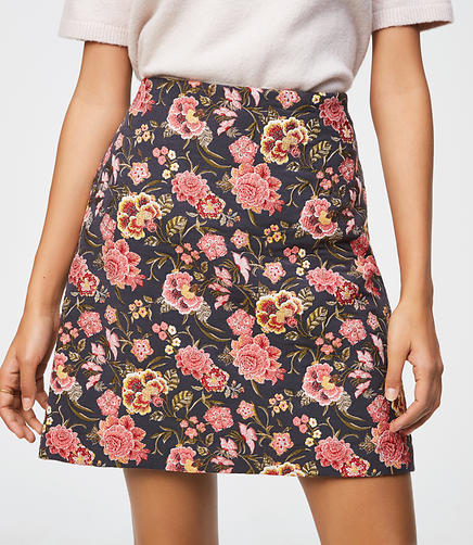 Poppy Bloom Shift Skirt