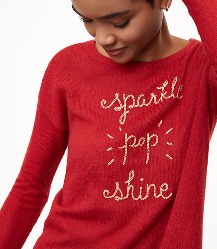 Petite Sparkle Pop Shine Sweater