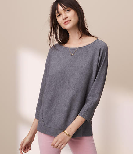 Lou & Grey Seamed Dolman Sweater