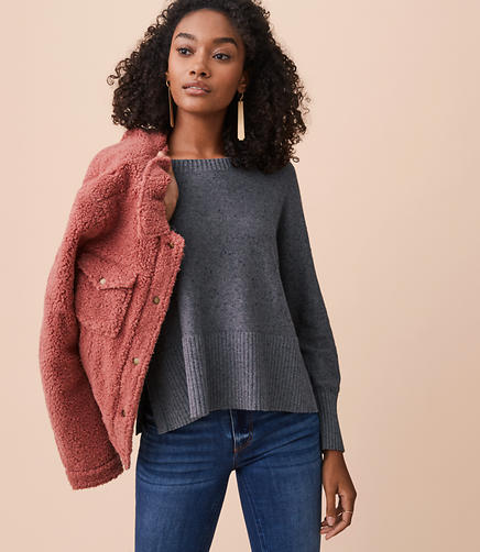 Lou & Grey Specked Hi-Rib Sweater