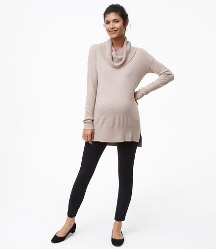 Maternity Performance Denim Leggings in Black