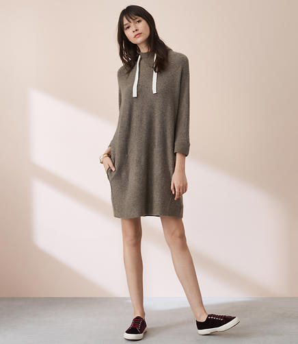 Lou & Grey Pocket Hoodie Sweater Dress