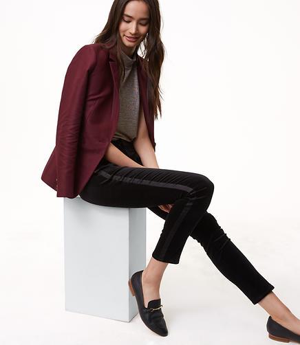 Tall Modern Skinny Velvet Tuxedo Pants