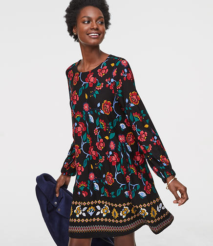 Stained Glass Floral Swing Dress