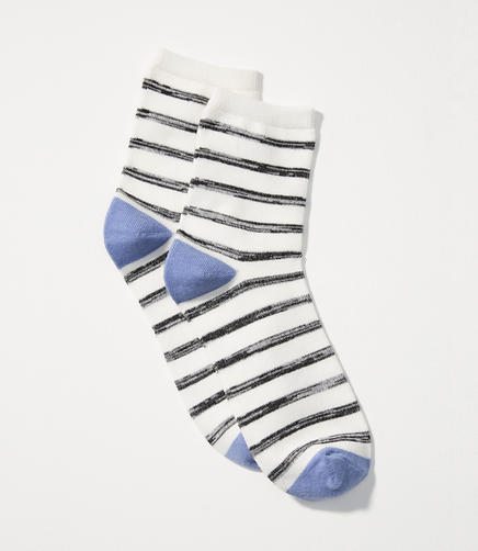 Spacedye Striped Ankle Socks