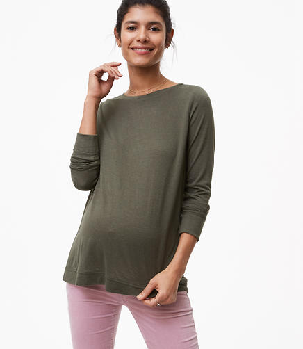 Maternity Seamed Long Sleeve Tee