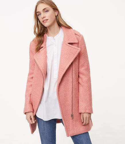 Textured Moto Coat