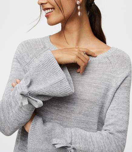 Shimmer Tie Cuff Sweater