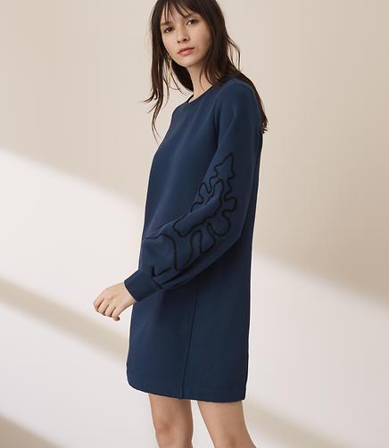 Lou & Grey Squiggle Sweatshirt Dress