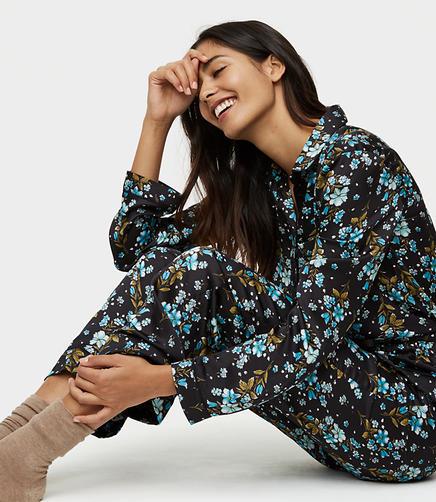 Winter Garden Silky Pajama Pants