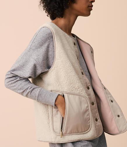 Lou & Grey Warm & Fuzzy Vest