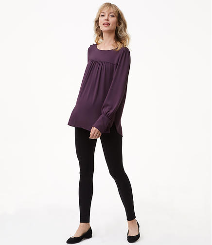 Maternity Leggings in Zip Pocket Ponte