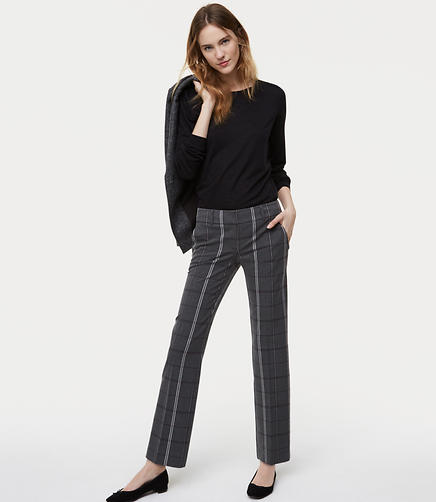Tall Trousers in Plaid Bi-Stretch in Marisa Fit