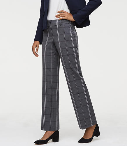 Tall Trousers in Plaid Bi-Stretch in Julie Fit