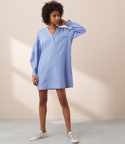 Lou & Grey Specked Pop On Shirtdress