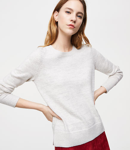Petite Shimmer Round Neck Sweater