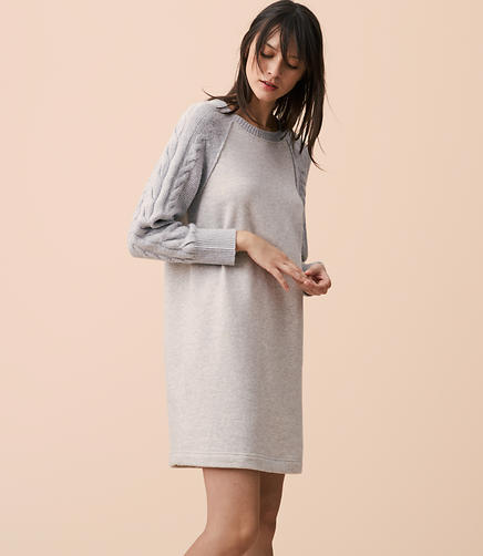 Lou & Grey Cable Sleeve Dress