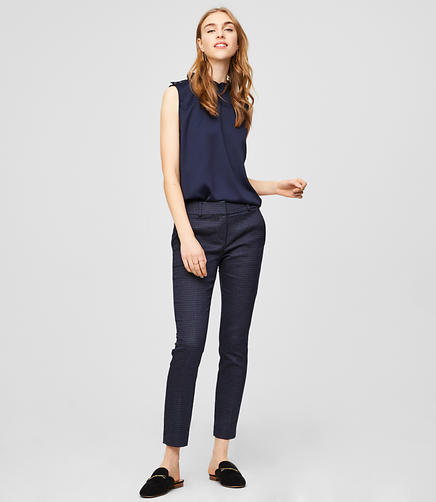 Skinny Dot Jacquard Pants in Marisa Fit