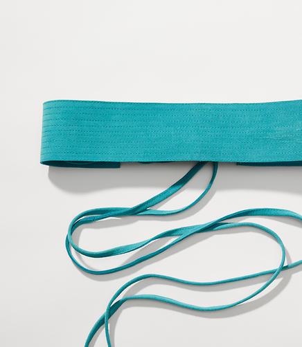 Suede Tie Belt