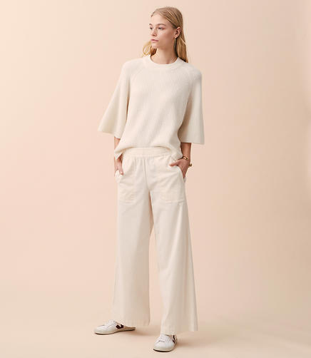 Lou & Grey Wide Leg Corduroy Pants