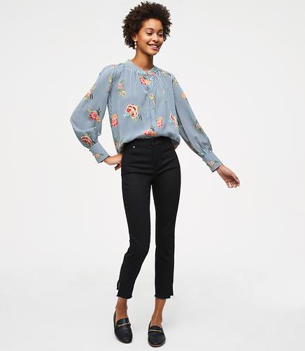 Modern Slit Skinny Jeans in Black