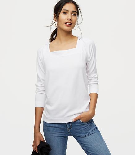 Square Neck Sweatshirt