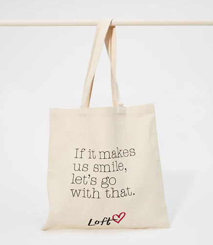 Love, LOFT Canvas Tote