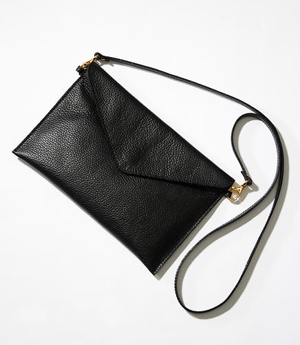 Luxe Leather Envelope Crossbody Bag