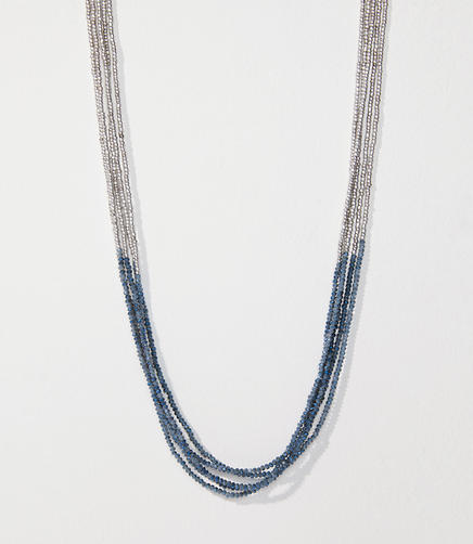 Two Tone Multistrand Beaded Necklace