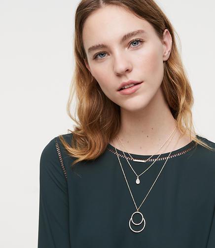 Crystal Pendant Necklace Set