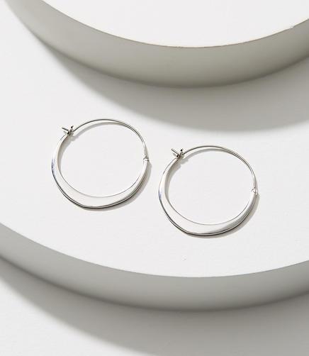 Small Modern Hoop Earrings