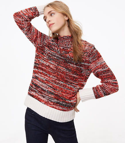 Petite Spacedye Turtleneck Sweater