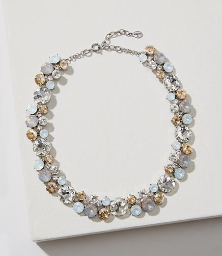 Mixed Crystal Statement Necklace