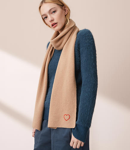 Lou & Grey Heart Cashmere Scarf