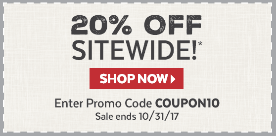 20% Off!* Promo Code COUPON10