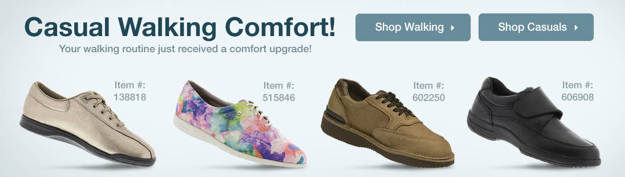 Casual Walking Comfort! Your Walking Routine Just Recieved A Comfort Upgrade!
