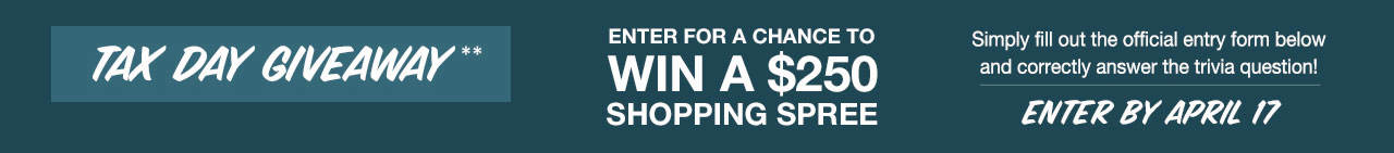 Tax Day Giveaway - Enter for a Chance to Win a $250 Shopping Spree!