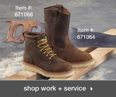 Shop Men's Work + Service