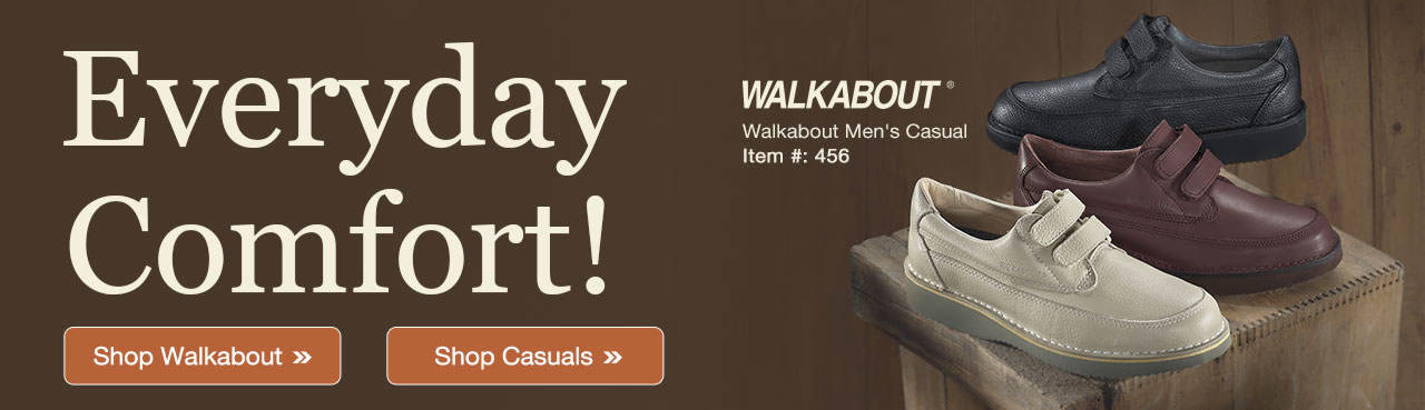 Everyday Comfort! Walkabout Men's Casual
