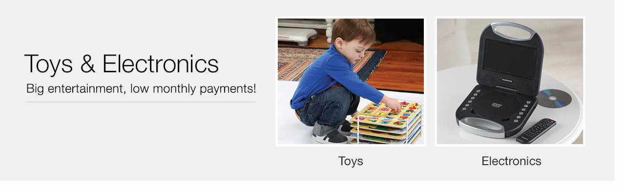 Big entertainment, low monthly payments - Shop Toys & Electronics
