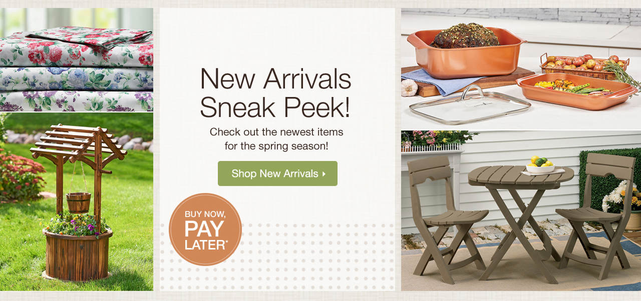 New Arrivals Sneak Peek - Check out the newest items for the spring season! Shop Now