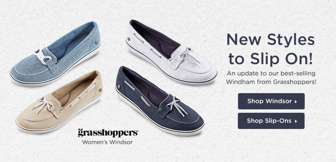 New Styles to Slip On! An update to our best-selling Windham from Grasshoppers! Shop Now