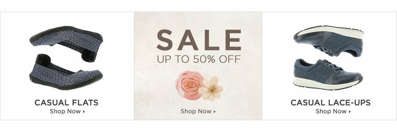 Shop Casual Flats, Casual Lace-Ups and Casuals on Sale