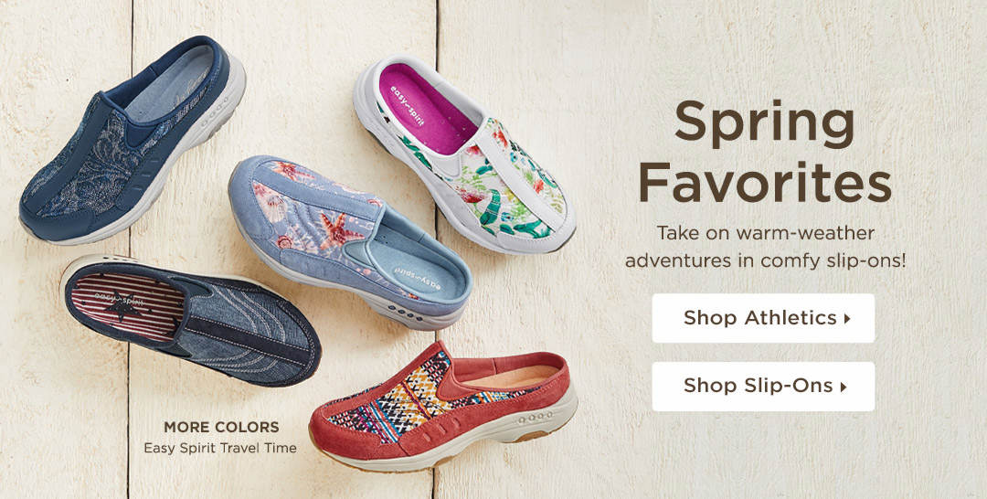 Spring Favorites - Take on warm-weather adventures in comfy slip-ons and athletics! Shop Now
