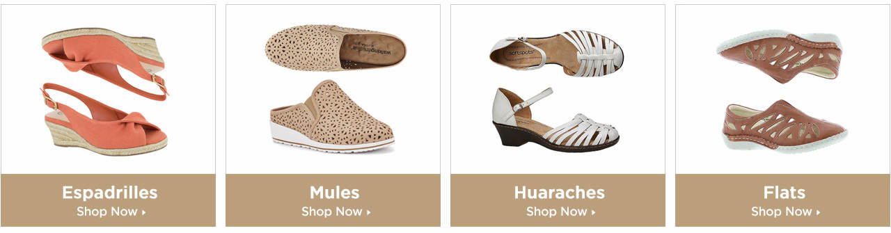Shop Espadrilles, Mules, Huaraches and Flats