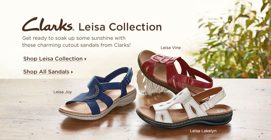 Get ready to soak up some sunshine with these charming cutout sandals from Clarks - Shop The Clarks Leisa Collection Today!