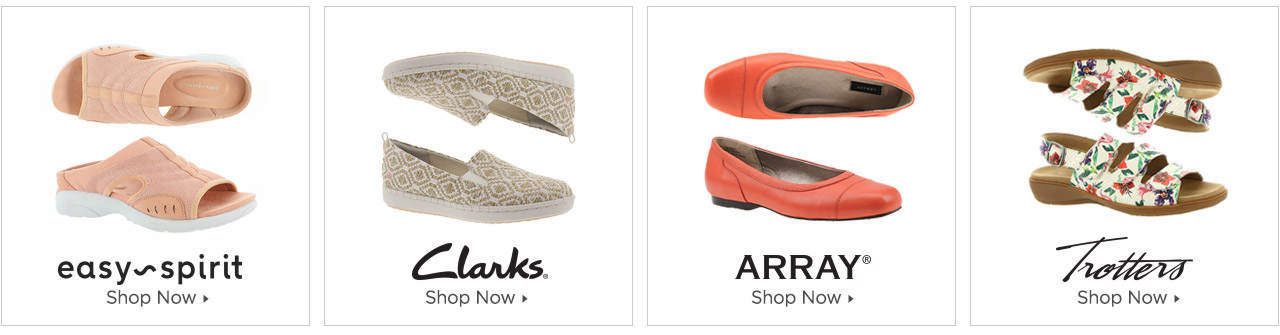 Shop Easy Spirit, Clarks, ARRAY and Trotters