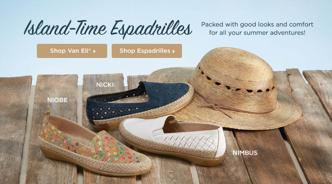 Island-Time Espadrilles - Packed with good looks and comfort for all your summer adventures! Shop Now